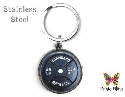 Barbell Keyring Men's Keyrings