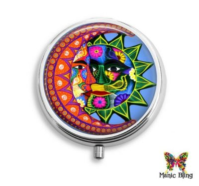 Colorful Sun Moon Pill Box
