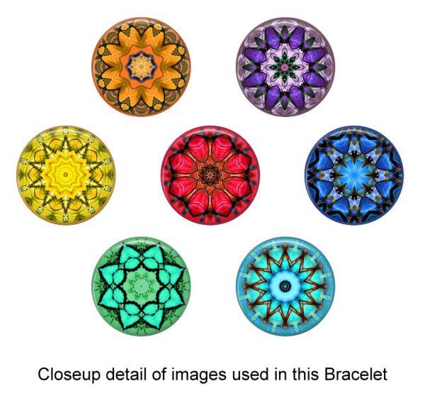 Chakra Mandela Glass Photo Bracelet