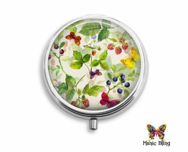 Floral Pattern Pill Box