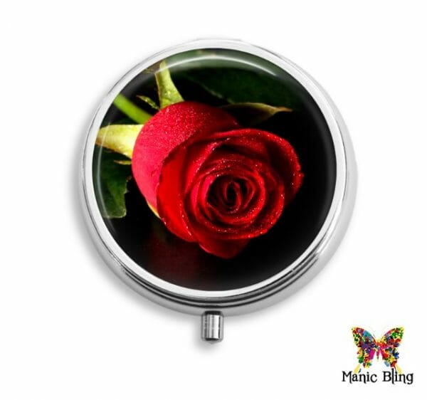 Red Rose Pill Box Pill Boxes