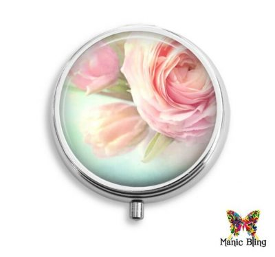 Pink Rose Pill Box