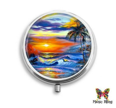 Beach Sunset Pill Box Pill Boxes