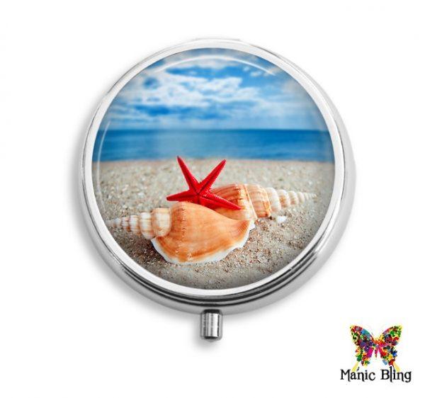 Beach Shells Pill Box
