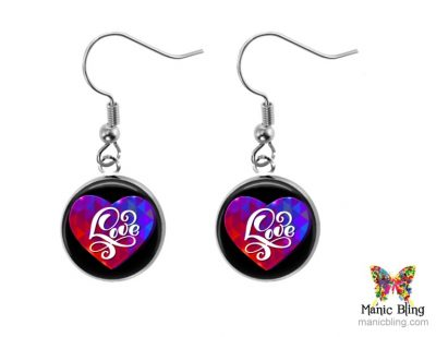 Love Heart Small Dangle Earrings
