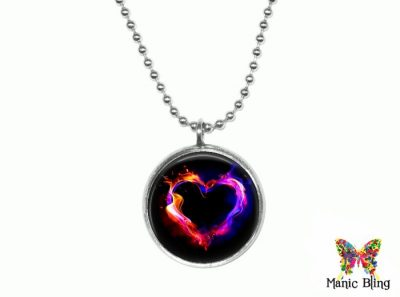 Flaming Heart Pendant Small