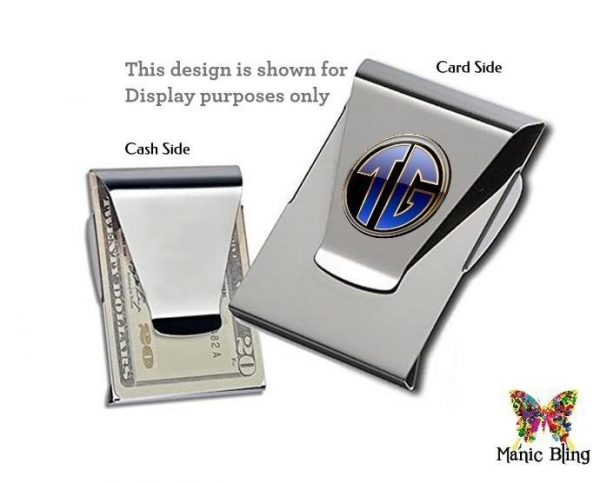 Monogram Money Clip Card Holder