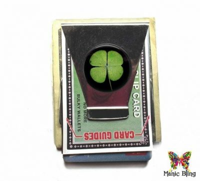 4 Leaf Clover Money Clip Card Holder [category]