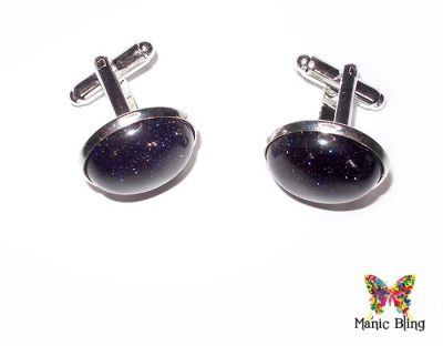 Blue Goldstone cufflinks [category]