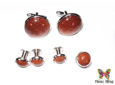 Goldstone Tuxedo Studs and Cufflink Set