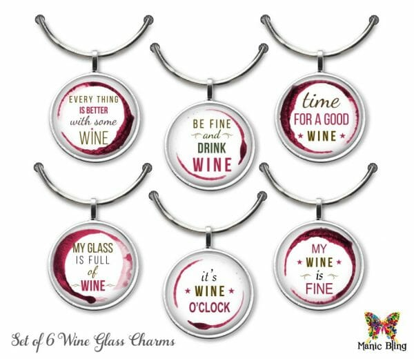 Wine Glass Charm Set – Wine Fun