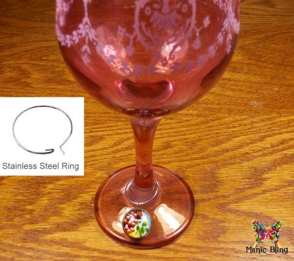 Wine Glass Charm Set – Grapes