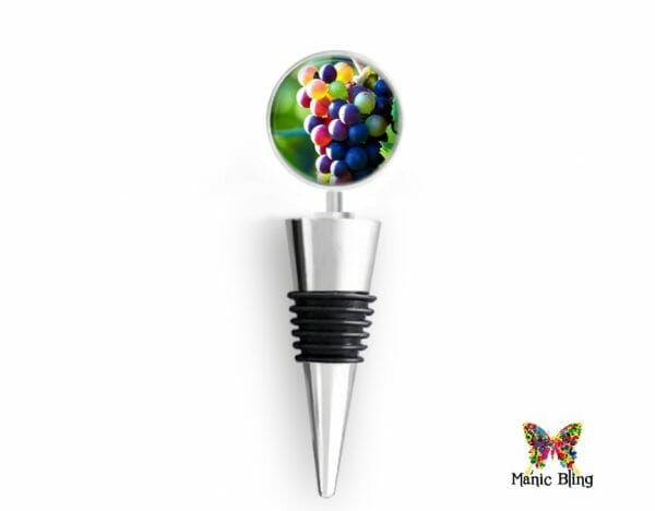 Wine Bottle Stopper Colorful Grapes