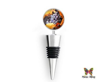 Wine Bottle Stopper Fall Grapes