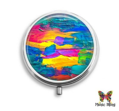 Colorful Brushstrokes Pill Box