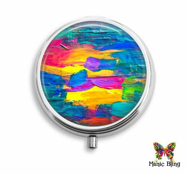 Colorful Brushstrokes Pill Box Pill Boxes