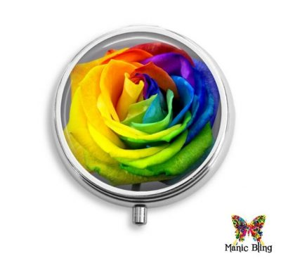 Rainbow Rose Pill Box Pill Boxes