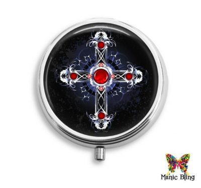 Gothic Cross Pill Box Halloween
