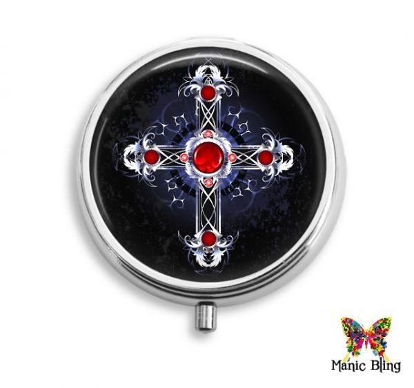 Gothic Cross Pill Box