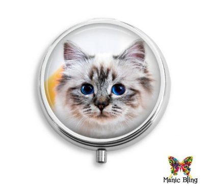 Blue Eyed Cat Pill Box Pill Boxes