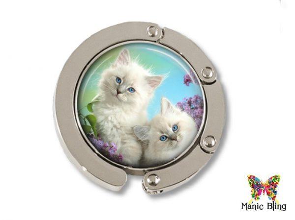 White Kittens Pill Box