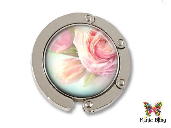 Pink Rose Purse Hanger