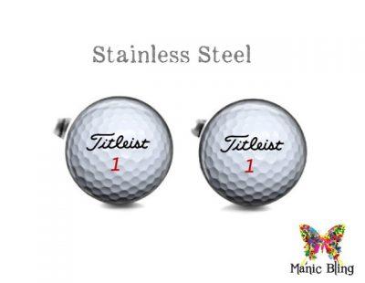 Titleist Golf Ball Cufflinks