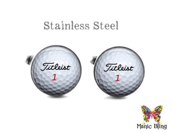 Titleist Golf Ball Cufflinks Cufflinks & Tie Tacks