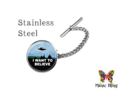 I want to Believe X files Tie Tack Cufflinks & Tie Tacks