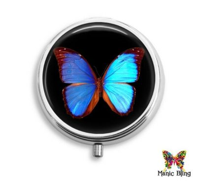 Morpho Butterfly Pill Box
