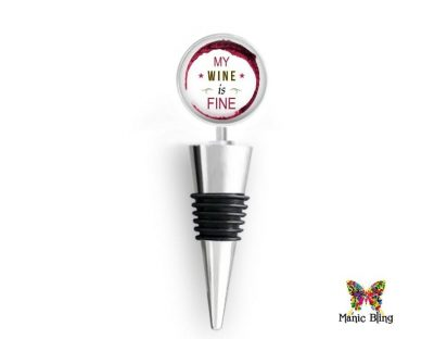 Wine Bottle Stopper Fine Wine Glass Photo Jewelry