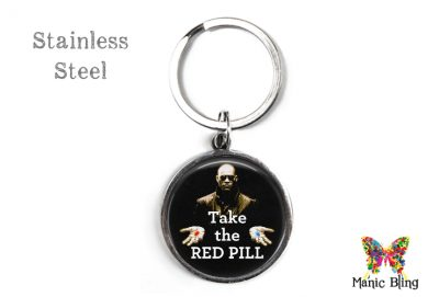 Red Pill Keyring Men's Keyrings