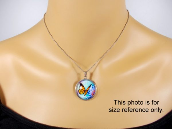 Dolphin Pendant Glass Photo Pendants