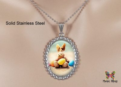 Easter Beach Bunny Pendant
