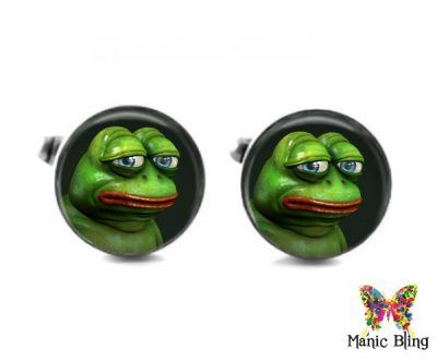 Pepe The Frog 3D Cufflinks Cufflinks & Tie Tacks