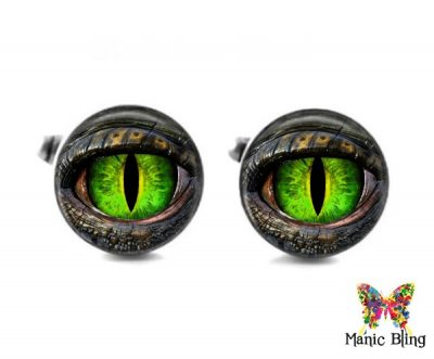 Green Dragon Eye Cufflinks Cufflinks & Tie Tacks