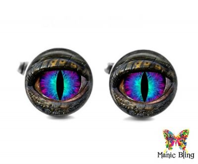 Blue Dragon Eye Cufflinks Cufflinks & Tie Tacks
