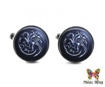 House Of Targaryen Cufflinks Cufflinks & Tie Tacks