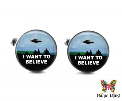 I want to Believe Cufflinks Cufflinks & Tie Tacks