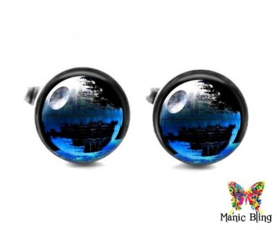 Blue Death Star Cufflinks Cufflinks & Tie Tacks