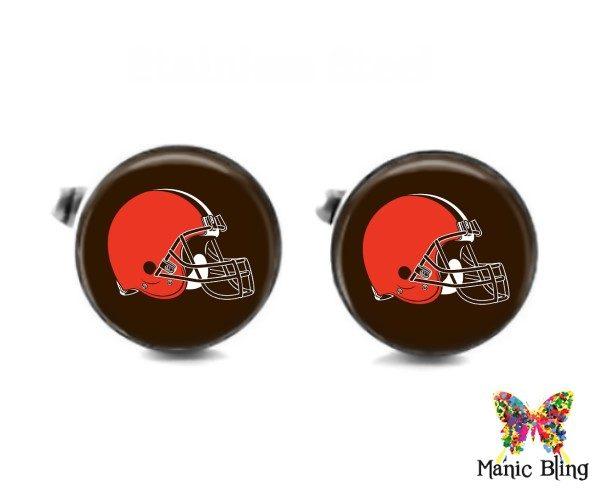 Browns Cufflinks Cufflinks & Tie Tacks