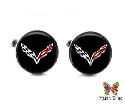 Corvette Cufflinks Cufflinks & Tie Tacks