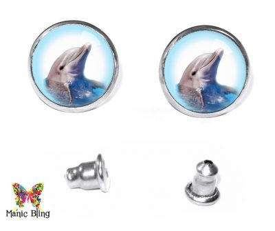 Dolphin Stud Earrings Post Earrings