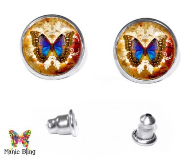 Butterfly Stud Earrings Post Earrings
