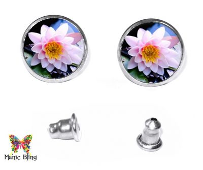 Water Lily Stud Earrings Earrings