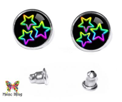 Neon Stars Stud Earrings Earrings