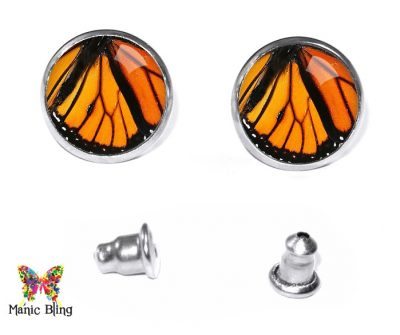 Monarch Wing Stud Earrings Earrings