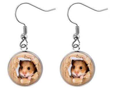 Cute Hamster Earrings Dangle Earrings