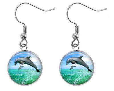 Dolphin Earrings Dangle Earrings