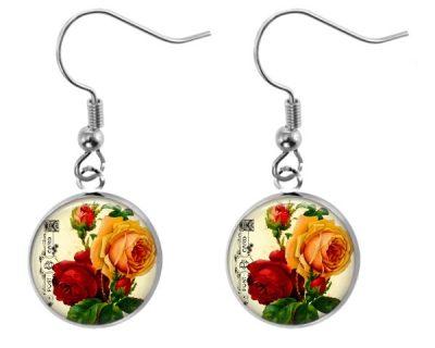 Vintage Rose Earrings Dangle Earrings